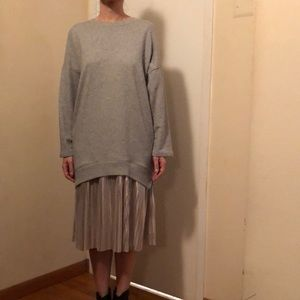 Zara Dresses - Zara combo sweatshirt dress